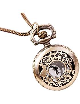 TOOGOO (R) Schluessel Kaninchen Kleine Hohlen Taschenuhr Pullover Halskette Mode Uhr