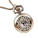 SODIAL (R) Schluessel Kaninchen Kleine Hohlen Taschenuhr Pullover Halskette Mode Uhr