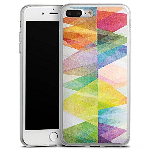 Apple iPhone 8 Plus Slim Case Silikon Hülle Schutzhülle Muster Bunt Farben Silikon Slim Case transparent