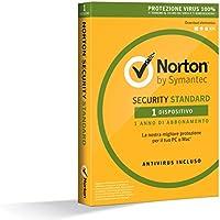 Norton Security Standard Antivirus Software 2018, Protezione Antivirus per 1 Dispositivo, Licenza di 1 Anno, Compatibile con Mac, Windows, iOS e Android