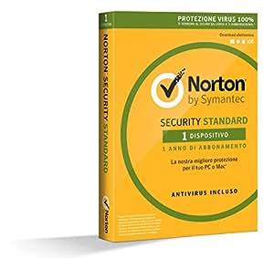 Norton Security Standard Antivirus Software 2018 | Protezione Antivirus per 1 Dispositivo (Licenza di 1 anno) | Compatibile con Mac, Windows, iOS e Android