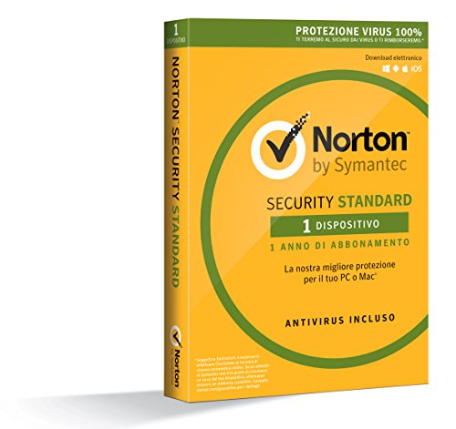 Norton Security Standard Antivirus Software 2018 | Protezione Antivirus per 1 Dispositivo (Licenza di 1 anno) | Compatibile con Mac, Windows, iOS e Android
