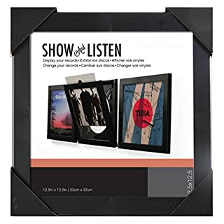 Show & Listen Vinyl Record Album LP Frame, Single, Black