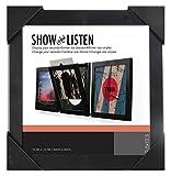 Easy Change Frame Show & Listen Cadre pour vinyles avec Ouverture Frontale, Acrylique, Noir, 38 x 38 x 3 cm
