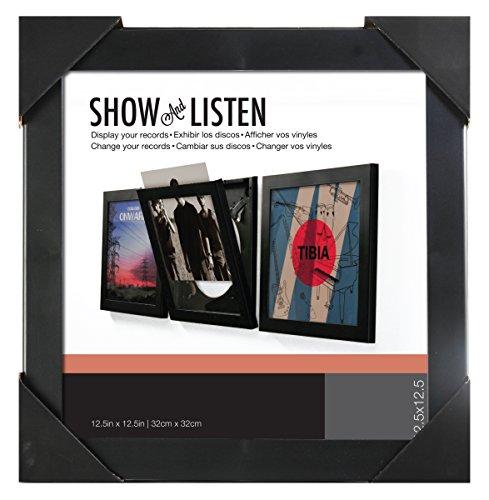 Preisvergleich Produktbild Show & Listen Schallplattenrahmen, single schwarz