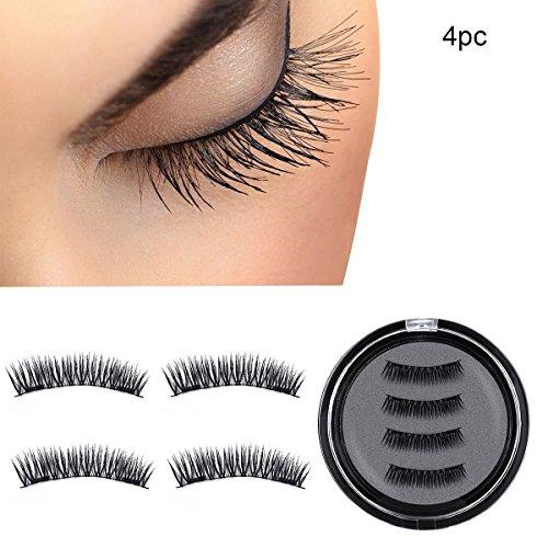 Yidarton Magnetic False Eyelashes Reusable Fake Eyelashes Natural Eye Lashes Full Cover Eyelashes 2.6cm/3.2cm