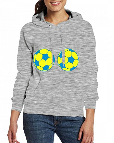 Custom Womens Hooded - Design Ball boobs funny Hoodies Grey