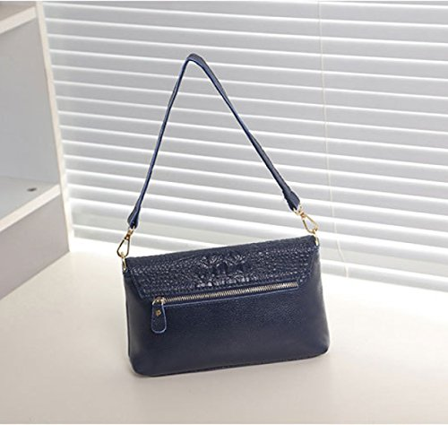 Woemn Handtasche Schulter Kuriertasche Kreuz Körper Tasche Umschlag Geldbörse Abendtasche Blue