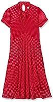 Lindy Bop 'Amie' Classy Red Polka Dot Vintage WW2 1940's 1950's Pinup Flared Retro Tea Dress