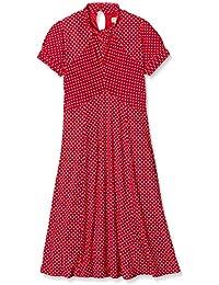 Lindy Bop Damen Kleid Amie Red Polka