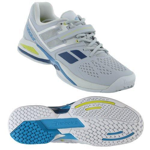 Babolat Babolat Propulse BPM Clay Sandplatz Tennis Tennisschuhe grau/blau/gelb, Schuhgröße:EUR 41, Farbe:grau