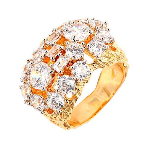55633fb623c7 The Elvis Jewellery Collection Anillo statement Hombre chapado en oro -  803R2927TB-85/Y