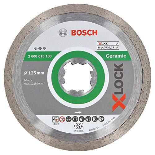 Bosch Professional Diamanttrennscheibe Standard (für Keramik, X-LOCK, Ø125 mm, BohrungsØ: 22,23 mm)