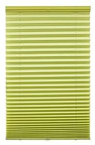 Lichtblick PLK.080.200.25 Plissee Klemmfix, ohne Bohren - Grün 80 cm x 200 cm (B x L)