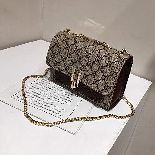LFGCL Taschen womenOne-Shoulder-Kette kleine Tasche Messenger Bag Textur westlichen Modetasche, Kaffee Farbe
