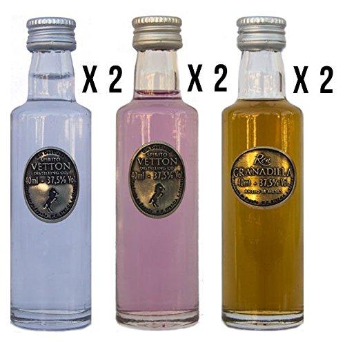 CEREX – Pack Degustación 6 botellas de Ron Añejo Granadilla con maduración 18 meses en barrica, Ginebra Premium Artesanal de 5 destilaciones y Ginebra Premium Artesanal de Cereza