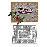 Lazzboy Fustelle Natale Scrapbooking Metallo Stencil Paper Card Craft per Sizzix Big Shot/Altre Macchine(E, Cornice di Natale)