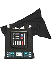 Childrens Cape T-Shirts Superhero Boys Costume Iron Man Superman Batman Official Starwars Marvel Avengers Assorted Sizes