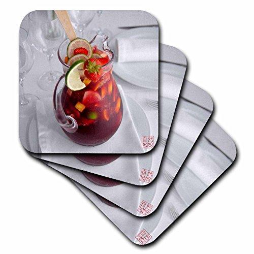 Nano Calvo Ibiza–Jar Of Cool typisch Spanische Sommer Trinken, sangria, aus Wein, Früchte, brandy oder andere Whisky–Untersetzer, Gummi, set-of-8-Soft
