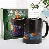 أكواب سحرية بتصميم جديد نظام شمسي - كوب تغيير درجة الحرارة، أكواب الحرباء الملونة - كوب شاي للقهوة الحساسة للحرارة - هدية مبت