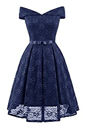 This stunning princess dress is perfect for your next big occasion In a bardot sweetheart neckline and tie waist with a ribbon bow, featuring all over lace overlay and swing style Wear with matching shoes and accessories for a timeless...
