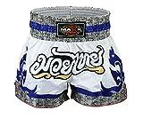 Maxx Muay Thai Boxing Shorts, Kick Boxing, mma shorts whit/blu/grey
