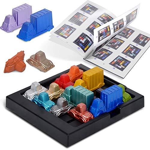 Xiton 1Set Rush Hour Toy Traffic Jam Logik Spiel Lernspielzeug Gehirn-Entwicklung Spielt Spielzeug Für Kinder Jungen Und Mädchen älter Als 3 Jahre Alt, Multicolor -