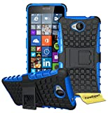 Microsoft Lumia 650 Handy Tasche, FoneExpert® Hülle Abdeckung Cover schutzhülle Tough Strong Rugged Shock Proof Heavy Duty Case für Microsoft Lumia 650 + Displayschutzfolie (Blau)