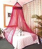 Burgandy-Zanzariera da letto a baldacchino