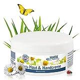 HAKA Kamille Handcreme I 250 ml Tiegel Hautcreme I Hautpflege für raue, beanspruchte, strapazierte Hände I Pflegecreme ohne Parabene