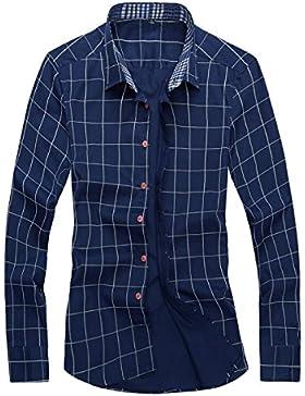 Camisa De Algodón De Primavera De Hebilla De Algodón Flojo De Tamaño Grande Camisa De Hombres