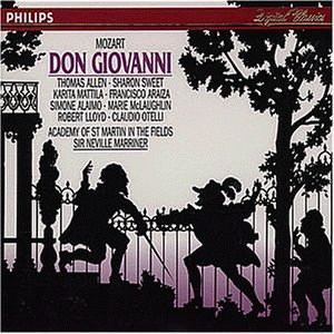 Mozart: Don Giovanni - Sir Neville Marriner - 3CD BOX SET / 1991 FIRST EDITON WITH 272PP BOOKLET/ PHILIPS