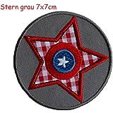 2 Parche de bordado o planchado Estrella Gris 7X7Cm Monster Traviesa 7X6Cm termoadhesivos bordados aplique para ropa con diseño de TrickyBoo Zurich Suiza por España