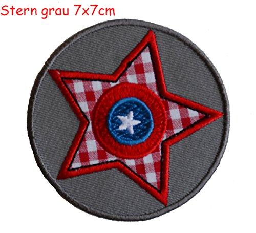 Estrella Gris 7x7cm Parche thermoadhesivo TrickyBoo Arte Arreglar Apliques Algodón Accesorio para...
