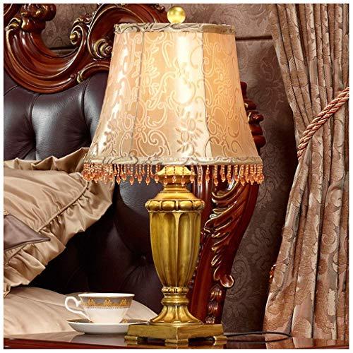 LXD Haushalt Tischlampe, Amerikanischen Luxus Retro Tischlampe Modernen Minimalistischen Europäischen Nachttischlampe Schlafzimmer Tischlampe Dekoration Wohnzimmer Kreative -