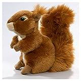 Eichhörnchen aus Plüsch, ca. 19cm Rückenlänge diagonal mit Kopf.