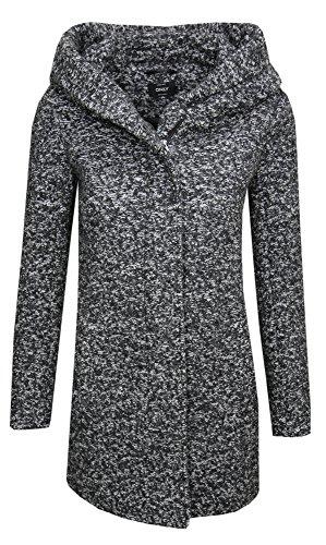 ONLY Damen Mantel Onlindie Noma Wool Coat CC Otw (Grau(40 (Herstellergröße: L)