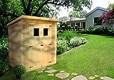 TIMBELA M312 Blockbohlen Gartenhaus aus Holz - Kiefer/Fichte Chalet- Flachdach - 130x180 cm/1,98m2
