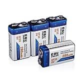 EBL 280mAh 9 Volt Block Ni-MH wieder aufladbare 9V Batterie