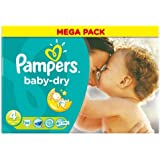 Pampers Baby Dry Size 4 (7-18kg) Mega Box 86 per pack by Pampers
