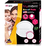 Trumom Super Absorbent Anti-Bacterial Honey Comb Disposable Nursing Breast Pads with Patented Leak Guards, White (Pack of 30)
