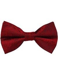 Doitsa Pajarita Hombre Moda Boda ajustable del smoking corbata cuadrícula Ocio disponible en diferentes colores rojo