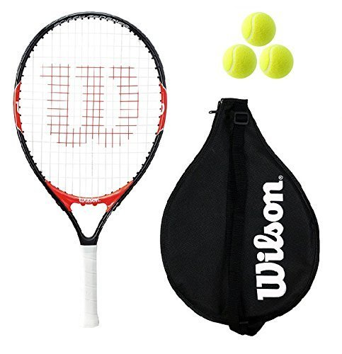 """Wilson Federer Junior 19,21,23,25,26 Raqueta De Tenis + 3 pelotas de tenis RB - 19\"""""""