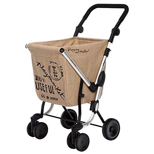 Playmarket 24975/235 We Go Chariot de Loisir Sac Polyester/Inox Marron 70 x 35 x 35 cm