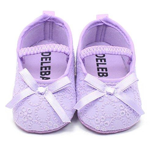 Xinantime , Chaussures premiers pas pour bébé (fille) violet violet 9~12M(UK:3) violet