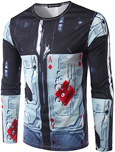 whatlees-mens-t-shirt-with-long-sleeves-trump-pattern-fashionable-fun-slim-comfortable-slim-ultra-re