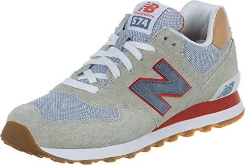 New Balance Herren Ml574 Sneakers beige/blau/rot