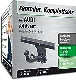 Rameder Komplettsatz, Anhängerkupplung Abnehmbar + 13pol Elektrik für Audi A4 Avant (112730-06988-4)