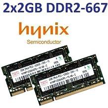 Hynix - Módulos de memoria DDR2-667 SO-DIMM (PC2-5300, doble canal, 4 GB (2 x 2048 MB), 200 pines)