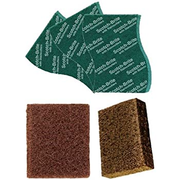 Scotch-Brite Heavy Duty Large (Pack of 2) and Scrub Pad Large (Pack of 3)